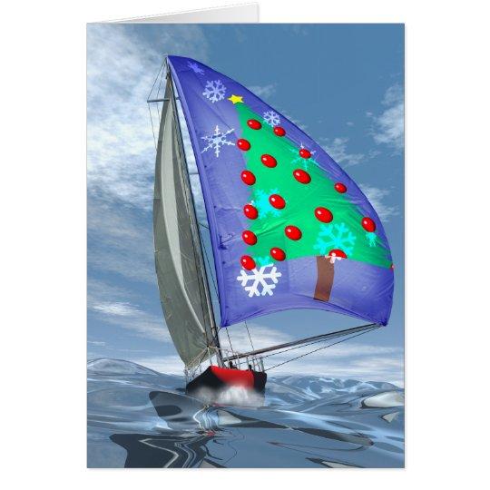 Christmas at sea card