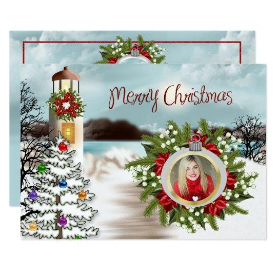 Christmas at the Lake Photo Card