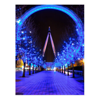 Christmas at the London Eye Postcard