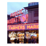 Christmas at the Pike Place Market Seattle Post Card