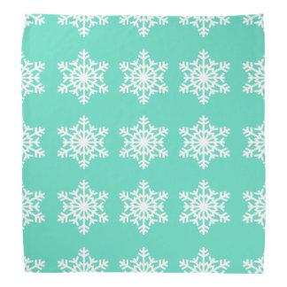 Christmas at Tiffanys Aqua Blue Snowflakes Bandana