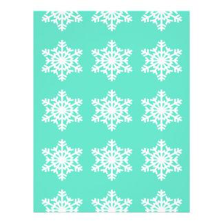 Christmas at Tiffanys Aqua Blue Snowflakes 21.5 Cm X 28 Cm Flyer
