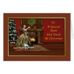 Christmas, Aunt and Uncle, Old Fashioned Greeting Card