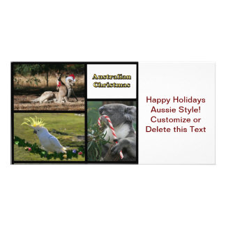 Christmas Aussie Style Animals Photo Card Template