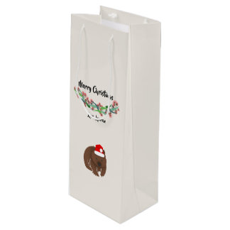 Christmas Australian Animals Design Wine Gift Bag