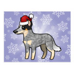 Christmas Australian Cattle Dog / Kelpie Postcard