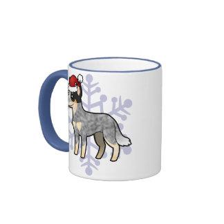 Christmas Australian Cattle Dog / Kelpie Ringer Mug