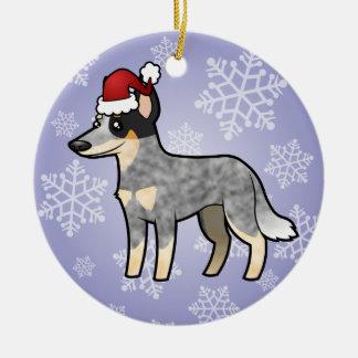 Christmas Australian Cattle Dog / Kelpie Round Ceramic Decoration