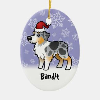 Christmas Australian Shepherd Christmas Ornament