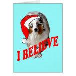 Christmas Australian Shepherd Greeting Card