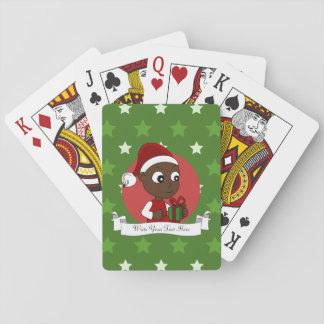 Christmas baby cartoon playing cards