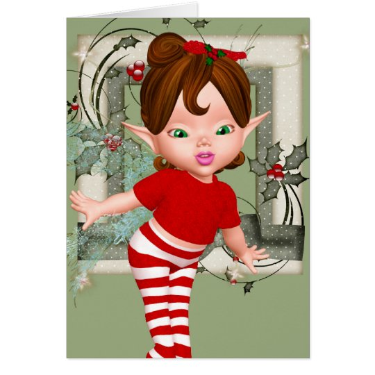 Christmas Baby Fairy Note Card