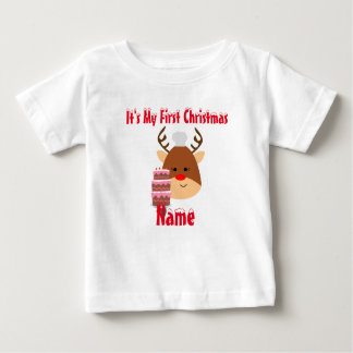 Christmas Baby first Birthday tee perrsonalized