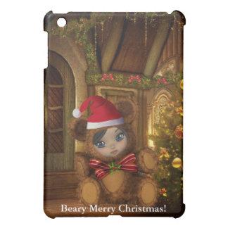 Christmas Baby Santa Bear Shae Case For The iPad Mini