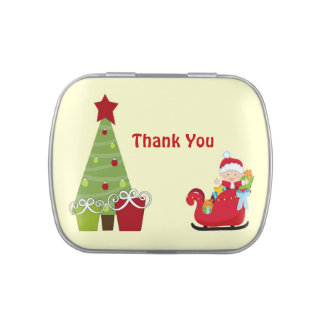 Christmas Baby Shower Favor Candy Tins