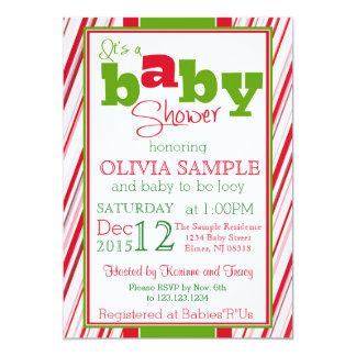 Christmas Baby Shower Invitation