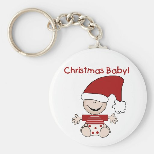 Christmas Baby T-shirts and Gifts Keychains