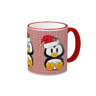 Christmas Baby Tux Santa Hat Ringer Mug
