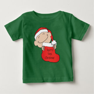 "Christmas Baby's ""First Christmas"" Baby T-Shirt"