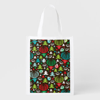 Christmas background pattern wrapping reusable grocery bag