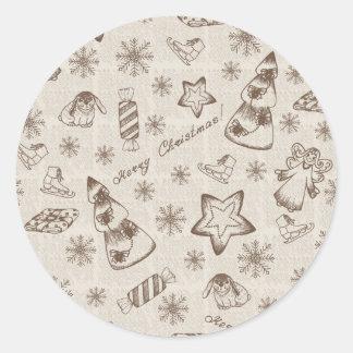Christmas background round sticker