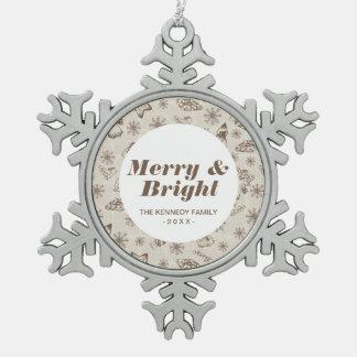 Christmas background snowflake pewter christmas ornament