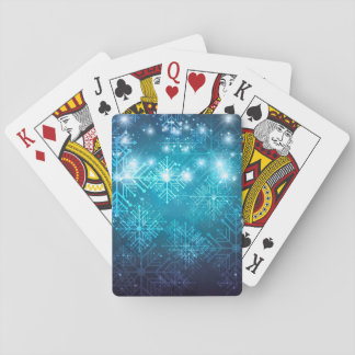 Christmas Background With Snowflakes Playing Cards