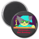 Christmas...Bah Humbug ! 6 Cm Round Magnet