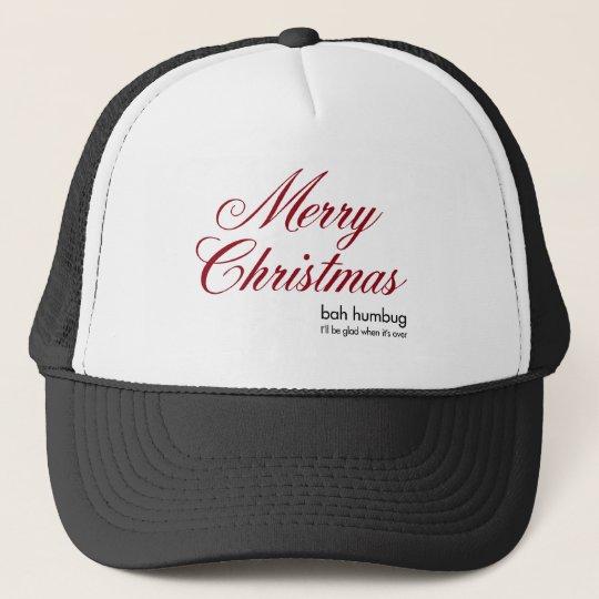 Christmas bah humbug trucker hat