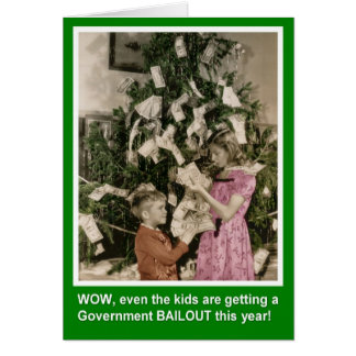 Christmas Bailout for Kids Card