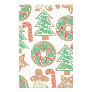 Christmas Baking Print Stationery Design