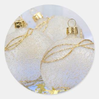 Christmas ball baubles round sticker