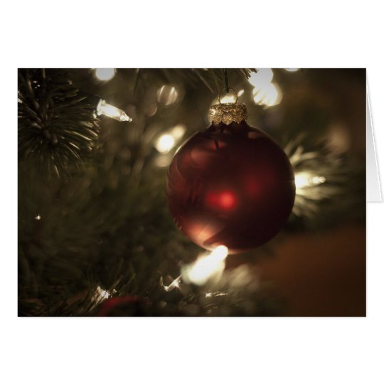 Christmas Ball Ornament Card