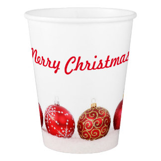 Christmas Ball Ornaments Paper Cup