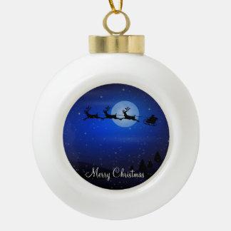 Christmas Ball Ornaments With Santa and Reindeer