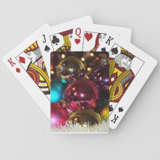 Christmas ball playing cards