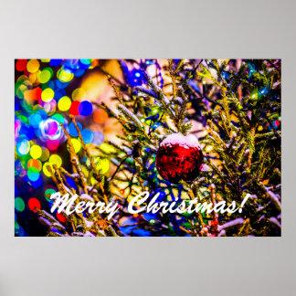 Christmas Ball Red Poster
