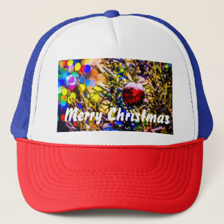 Christmas Ball Red Trucker Hat