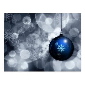 Christmas ball snowflakes illustration postcard