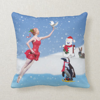 Christmas, Ballerina, Winter Wonderland, Pillow