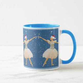 Christmas Ballerina with Castanets Mug