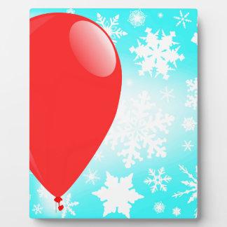 Christmas Balloon Photo Plaque