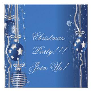 Christmas Balls And Ribbons Party Invitation
