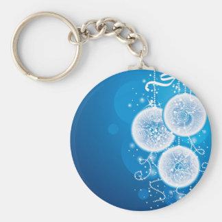 Christmas Balls Basic Round Button Key Ring