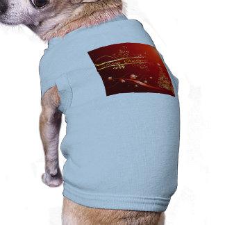 Christmas balls dog tshirt
