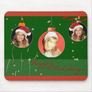 Christmas Balls Photo Frame Mousepad