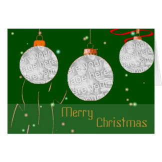 Christmas Balls Photo Frames Card