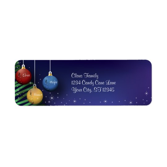 Christmas Balls Return Address