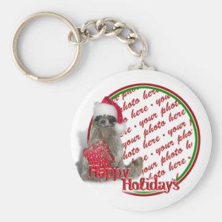 Christmas Bandit Raccoon Keychains