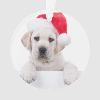 Christmas Banner Dog Ornament